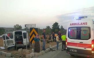 Samsun yolunda kaza, 4 yaralı