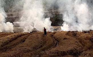 İlçe halkı güne yoğun dumanla uyandı