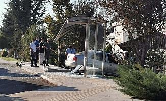 Sanayi girişinde kaza