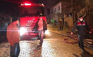 Obruk Köyü'nde yangın