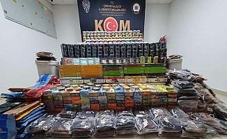 Depoda kilolarca kaçak tütün bulundu