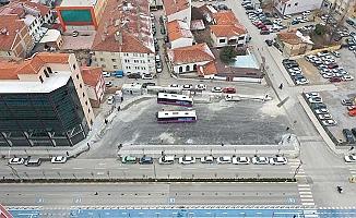Otobüsler yeni durakta ringe başladı