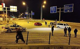 Çevre yolu kavşağında kaza