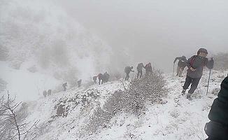 1709 metreye tırmandılar