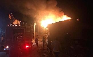 İskilip'te yangın, itfaiyeci yaralandı