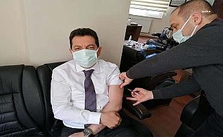 Makamda aşıya tepki yaygın basında