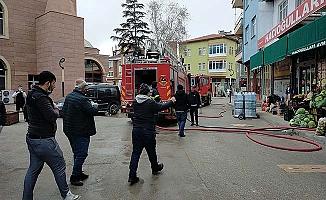 Markette yangın paniği