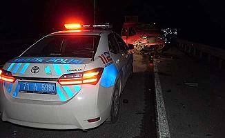 Çorum yolunda kaza: 1 ölü, 4 yaralı