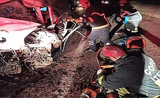 Osmancık yolunda feci kaza, 2 ölü