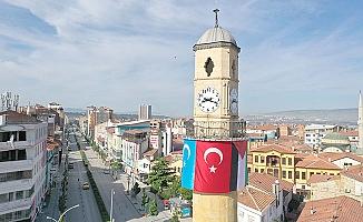 Filistin ve Doğu Türkistan bayrağı yan yana