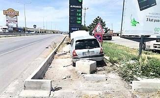Sungurlu şehir geçişinde kaza