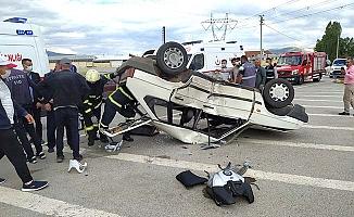 Bayat gediğinde kaza 3 yaralı