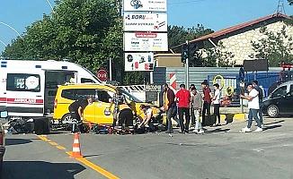 Hastane karşısında kaza