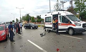 Sağlık çalışanları kaza yaptı