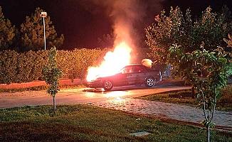 Ulukavak'ta otomobil yangını