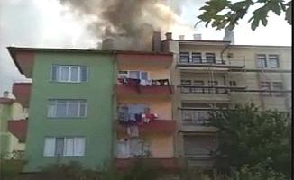 Kafkasevler'de yangın paniği