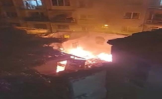 Osmancık Caddesi'nde yangın