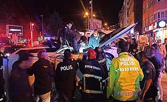 İşte polislerin yaralandığı kazada detaylar
