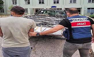 Kablo hırsızı Jandarma'dan kaçamadı