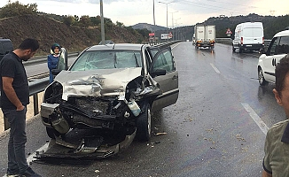 Yağış sonrası Samsun yolunda kaza