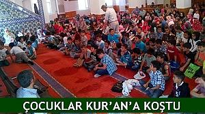 Çocuklar Kur'an'a koştu