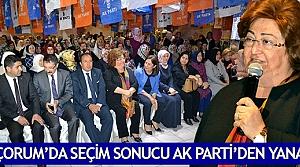 'Çorum'da seçim sonucu AK Parti'den yana'