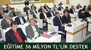 Eğitime 36 Milyon TL'lik destek