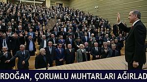 Erdoğan, Çorumlu muhtarları ağırladı