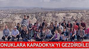 Konuklara Kapadokya'yı gezdirdiler