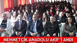 Mehmetçik Anadolu Akif'i andı