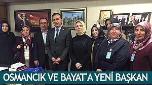 Osmancık ve Bayat'a yeni başkan