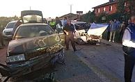 İskilip Yolunda iki araç çarpıştı
