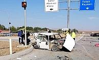 Alaca Mezbahane Kavşağı'nda kaza, 1 ölü