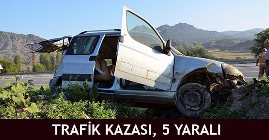 Trafik Kazası, 5 Yaralı