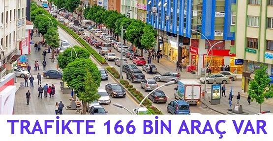 Trafikte 166 bin araç var