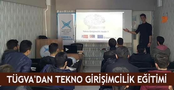 TÜGVA'dan tekno girişimcilik eğitimi