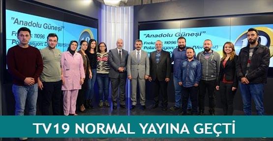 TV19 normal yayına geçti