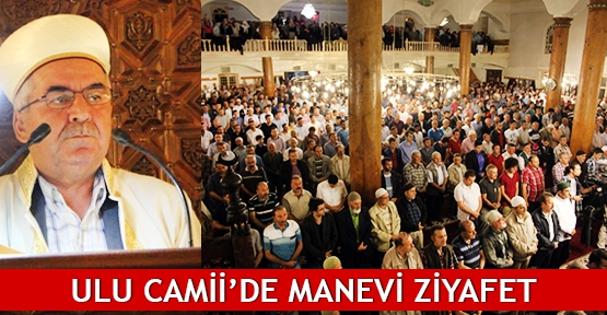 Ulu Camii'de manevi ziyafet