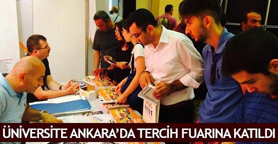 Üniversite Ankara'da tercih fuarına katıldı