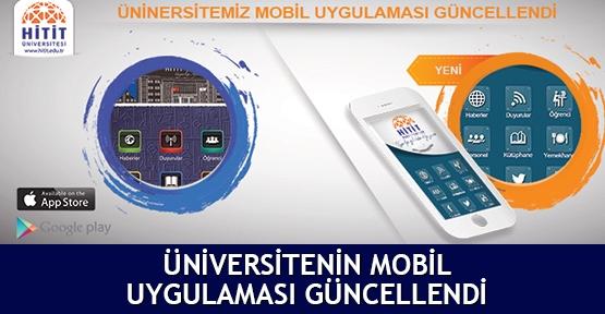 Üniversitenin mobil uygulaması güncellendi