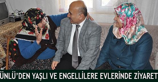 Ünlü'den Yaşlı Ve Engellilere Evlerinde Ziyaret