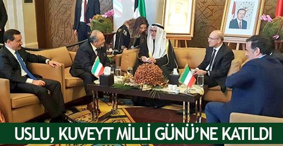 Uslu, Kuveyt Milli Günü'ne katıldı