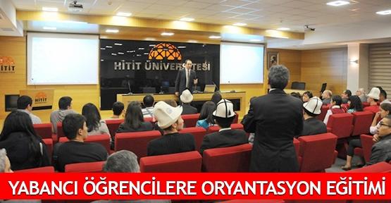 Yabancı öğrencilere oryantasyon eğitimi