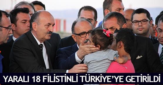 Yaralı 18 Filistinli Türkiye'ye getirildi