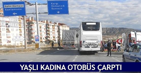 Yaşlı Kadına Otobüs Çarptı