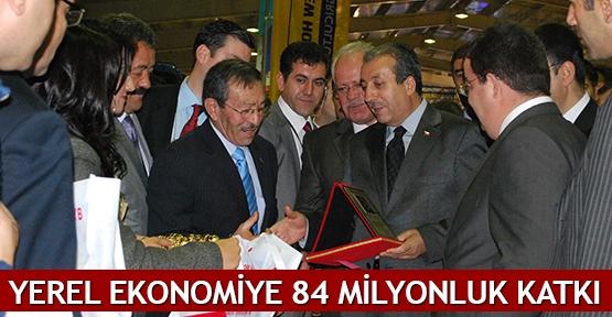 Yerel ekonomiye 84 milyonluk katkı