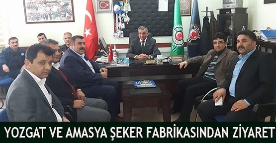 Yozgat ve Amasya Şeker Fabrikası'ndan ziyaret