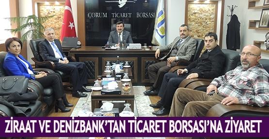 Ziraat ve Denizbank'tan Ticaret Borsası'na ziyaret