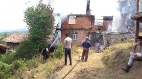 İskilip'te ev yangını