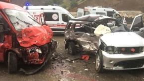 Dana Deresi'ndeki kazada 13 kişi yaralandı